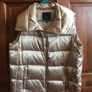Gold puffy vest